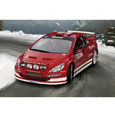 Maquette voiture : Kit complet 65 pièces : Peugeot 307 WRC '04 - Heller-50753
