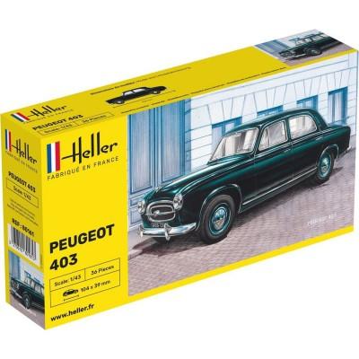 Maquette voiture : Peugeot 403 - Heller-80161