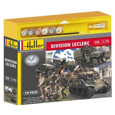 Maquettes 2ème guerre mondiale : Coffret 70ème anniversaire du débarquement Division Leclerc - Heller-53006