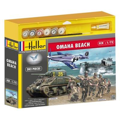 Maquettes 2ème guerre mondiale : Coffret 70ème anniversaire du débarquement Omaha Beach - Heller-53003