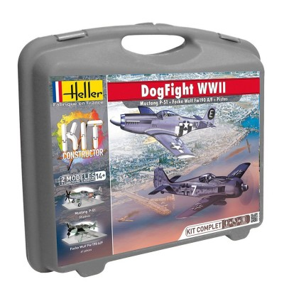 Maquettes avion : Mallette Dogfight WWII - Heller-62001