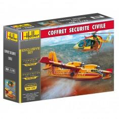 Maquettes avion et hélicoptère : Coffret sécurité civile
