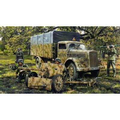 Maquette Camion Opel Blitz et canon Pak 40 - Heller-79994