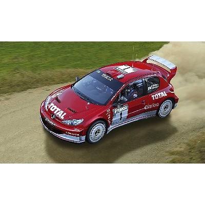 Maquette voiture : Peugeot 206 WRC 03 - Heller-80113