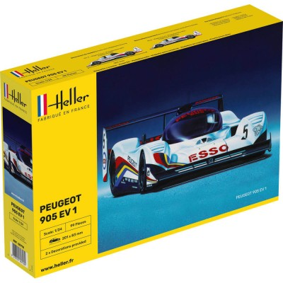 maquette voiture peugeot 905 ev 1 bis jeux et jouets heller avenue des jeux. Black Bedroom Furniture Sets. Home Design Ideas