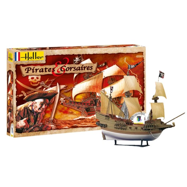 maquette bateau kit complet pirates et corsaires jeux et jouets heller avenue des jeux. Black Bedroom Furniture Sets. Home Design Ideas