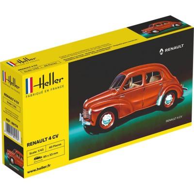 Maquette voiture: Renault 4 CV - Heller-80174
