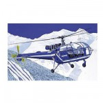 Maquette hélicoptère: SA 316 Alouette III Gendarmerie