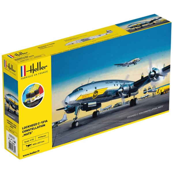 Maquette avion : Starter Kit : C-121A Constellation Mats - Heller-56382