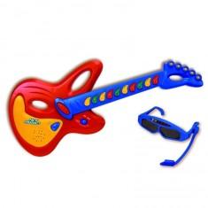 Guitare électronique avec lunettes