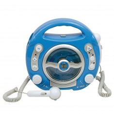 Lecteur CD 2 micros : Bleu