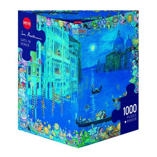 Puzzle 1000 pièces : Chat à Venise, Sven Hartmann - Heye-29695-58332