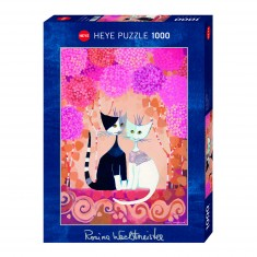 Puzzle 1000 pièces : Chats romantiques, Rosina Wachtmeister