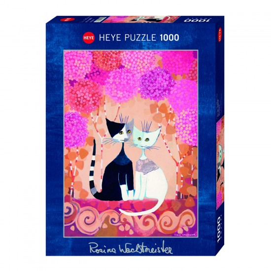 Puzzle 1000 pièces : Chats romantiques, Rosina Wachtmeister - Heye-29658-58316