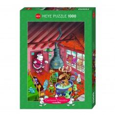 Puzzle 1000 pièces : Dépêchez-vous, Mordillo