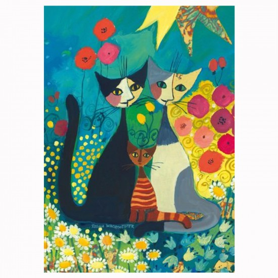 Puzzle 1000 pièces : Flowerbed, Rosina Wachtmeister - Heye-29616-58242
