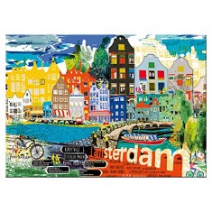 Puzzle 1000 pièces : I love Amsterdam
