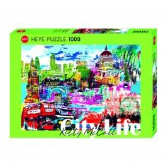 Puzzle 1000 pièces : I love Londres