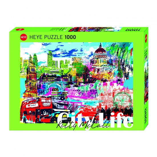 Puzzle 1000 pièces : I love Londres - Heye-29682-58318