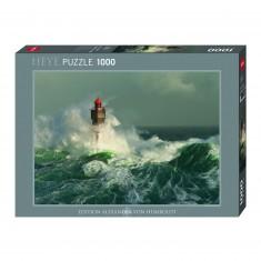 Puzzle 1000 pièces : Phare de la Jument, Bretagne