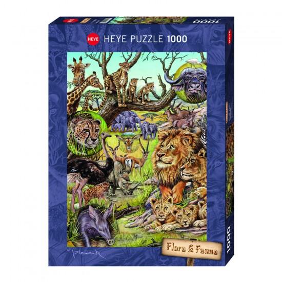 Puzzle 1000 pièces : Savane - Heye-29661-58320