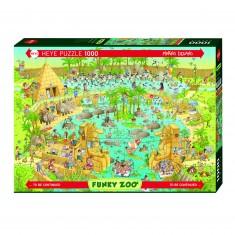 Puzzle 1000 pièces : Zoo, habitat du Nil