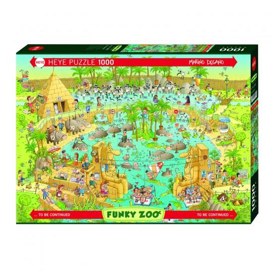 Puzzle 1000 pièces : Zoo, habitat du Nil - Heye-29693-58322