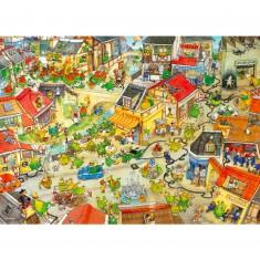 Puzzle 1000 pièces - Degano : La ville aux dragons