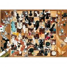Puzzle 1000 pièces - Degano : Noir ou blanc