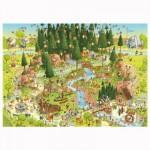 Puzzle 1000 pièces Funky Zoo : Marino Degano, Black Forest Habitat