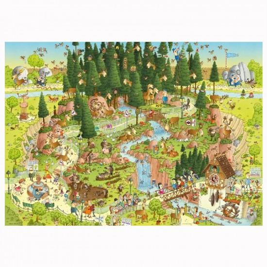 Puzzle 1000 pièces Funky Zoo : Marino Degano, Black Forest Habitat - Mercier-29638-58307