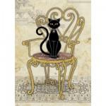 Puzzle 1000 pièces Jane Crowther : Chat sur sa chaise