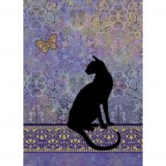Puzzle 1000 pièces Jane Crowther : Silhouette de chat