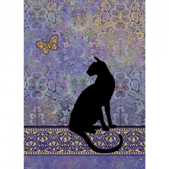 Puzzle 1000 pièces Jane Crowther : Silhouette de chat - Heye-29534-58238