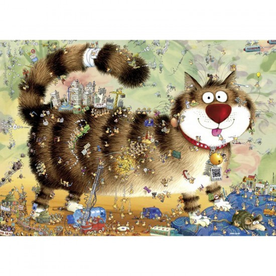 Puzzle 1000 pièces Marino Degano : Vie de chat - Heye-29569-58283