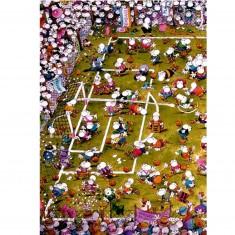 Puzzle 1000 pièces - Mordillo : Foot de dingues !