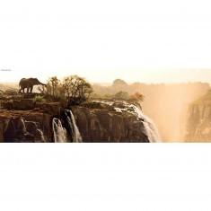 Puzzle 1000 pièces panoramique -  Alexander von Humboldt : Eléphant
