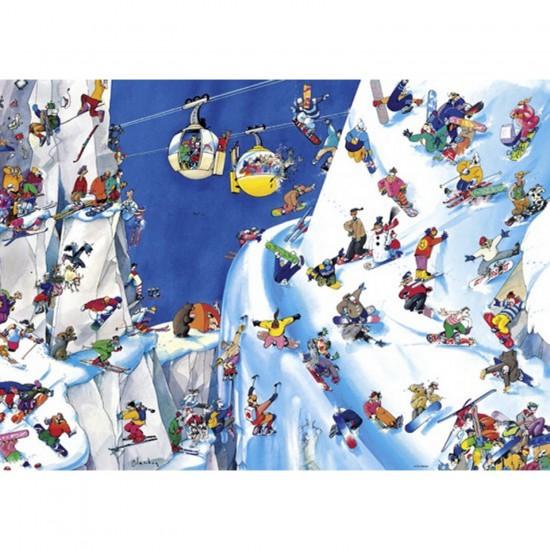 Puzzle 1000 pièces Roger Blachon : Sports d'hiver - Heye-29565-58205