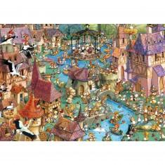Puzzle 1000 pièces - Ruyer : Bunnytown
