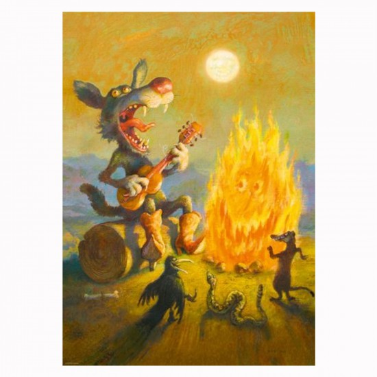 Puzzle 1000 pièces Smiles at you ! Rudi Hurzlmeier, Le chant du coyote - Heye-29620-58301