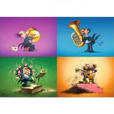 Puzzle 150 pièces - Degano : Les musiciens