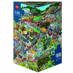 Puzzle 1500 pièces : Embouteillage, Schone