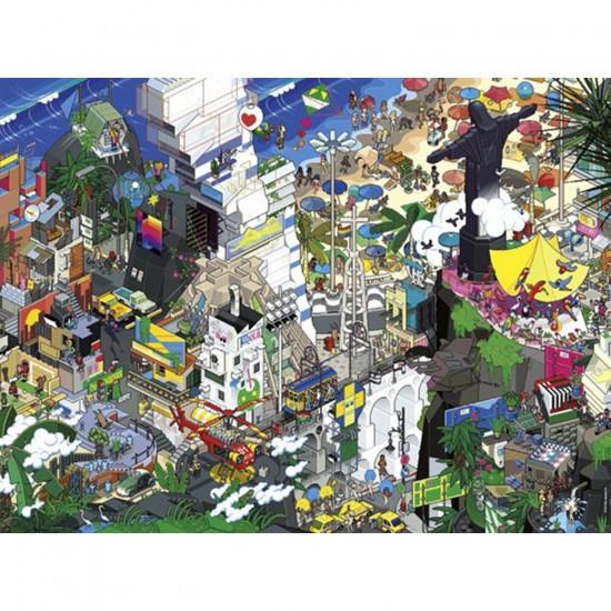 Puzzle 1500 pièces eBoy : Rio - Heye-29575-58407