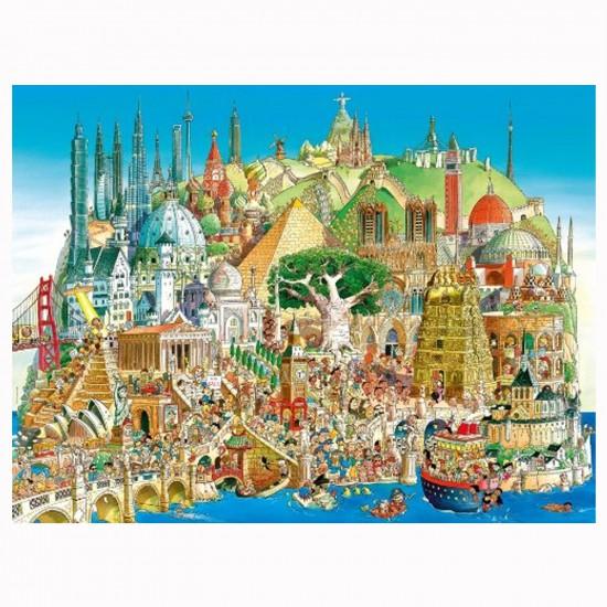 Puzzle 1500 pièces Hugo Prades : Global city - Mercier-29634-58397