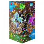 Puzzle 2000 pièces : The Kiss, Mordillo