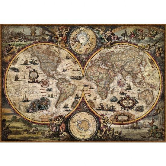 Puzzle 2000 pièces : Vintage le Monde - Heye-29666-58462