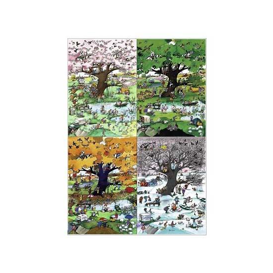 Puzzle 2000 pièces - Blachon : Les quatre saisons - Heye-29340-58438