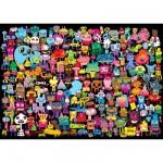 Puzzle 2000 pièces - Burgerman : Bonjour à tous