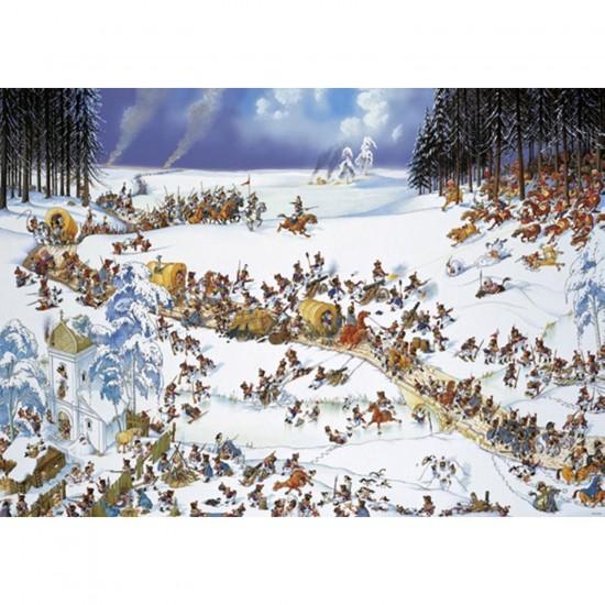 Puzzle 2000 pièces Jean-Jacques Loup : Hiver napoléonien - Heye-29566-58281