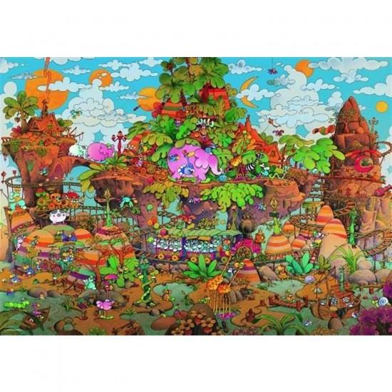 Puzzle 2000 pièces - Mordillo : Le train - Heye-29360-58143